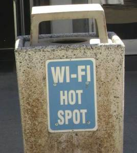 Wi-Fi Trash Can, by flickr user Yuba College Public Space